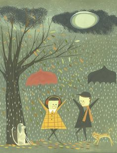 love this for my house. Reminds me of Paul and our love of rain on umbrellas and on the trees