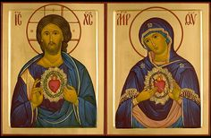 The Sacred Heart of Jesus and the Immaculate Heart of Mary icon