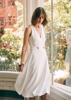 Look Fashion, Daily Fashion, Autumn Fashion, Chic Outfits, Summer Outfits, Summer Dresses, Robes Midi, Overall Dress, Polished Look