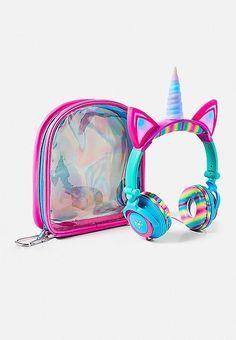 Light-Up Unicorn Headphones Justice Unicorn Rooms, Unicorn Bedroom, Unicorn Gifts, Cute Unicorn, Rainbow Unicorn, Unicorn Fashion, Unicorn Outfit, Light Up Unicorn, Cute Headphones