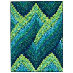 blue and green #bargello #quilt - this one is great