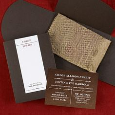 Perfectly You Wedding invitations - Rustic Brown Shimmer Item Number:RRN4238ATBR $378.90 Per 100