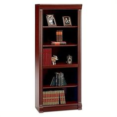 Bush Furniture Birmingham 5 Shelf Wood Bookcase in Harvest Cherry Review https://homeofficefurnitureusa.info/bush-furniture-birmingham-5-shelf-wood-bookcase-in-harvest-cherry-review/