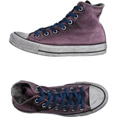 Converse Limited Edition Sneakers ($142) ❤ liked on Polyvore featuring shoes, sneakers, mauve, converse sneakers, converse footwear, flat shoes, flat sneakers and rubber sole shoes