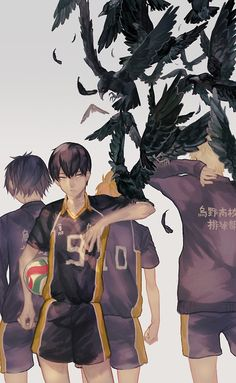 Haikyuu!!    烏野   Lalil-le [pixiv] http://www.pixiv.net/member_illust.php?mode=medium&illust_id=42870815 [please do not remove this caption with the source]