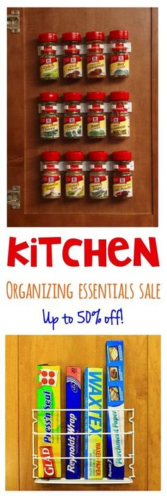 Kitchen Organizing Essentials Sale!  {I LOVE these ideas for organizing spices and kitchen cabinets!}