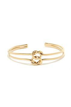 Twice as Knotty Gold Bracelet at Lulus.com!