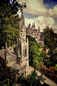 "The dreamy Quinta da Regaleira in Sintra, Portugal. lso known as ""Palace of Monteiro the Millionaire"", this romantic escapade of Quinta da Regaleira near the city center of Sintra, Portugal is listed as a World Heritage Site by UNESCO. Places Around The World, The Places Youll Go, Places To See, Around The Worlds, Portugal Travel, Spain And Portugal, Portugal Trip, Wonderful Places, Beautiful Places"