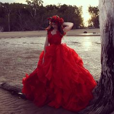 Award Winning Ruby of Eden gown by Anna Dutton Couture Couture Bridal, Modern Fashion, Masquerade, Bridal Gowns, Ball Gowns, Anna, Dress Shoes, Prom, Lingerie