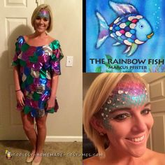 Rainbow Fish No-Sew Costume... Coolest Homemade Costumes