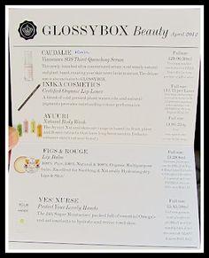 Ninas Bargain beauty: April Glossybox 2012 & Ramble :)