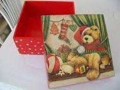 Resultado de imagen para cajas navideñas decoupage