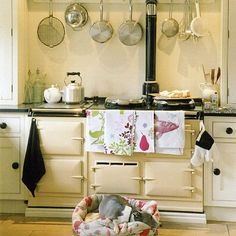 Image detail for -modern country kitchen in cream, decorated with vintage finds, the . Modern Country Kitchens, Modern Country Style, Vintage Country, English Kitchens, Small Kitchens, Vintage Modern, French Farmhouse Decor, Farmhouse Chic, Cosy Living