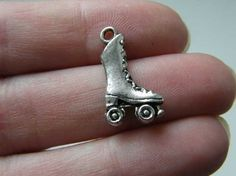 8 Rollerskate charms  double sided and 3D  21 x by nicoledebruin, $3.00