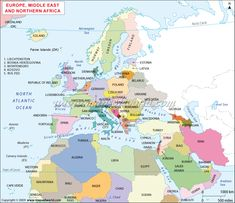 Europe Northern Africa Middle East Map