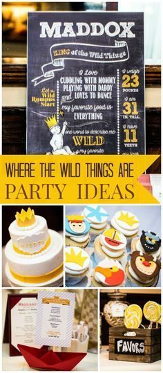 This Where the Wild Things Are party is also a Korean first birthday! See more party ideas at CatchMyParty.com!