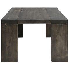 Je la veux, je la veux, je la veux! Table console extensible bois massif 4 rallonges Woodini brun moka