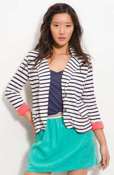 This entire ensemble by Splendid is perfect!  I love, love, LOVE this striped blazer...it's so effortless and cute!