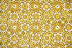 1970's Retro Wallpaper  Vintage Yellow and by RetroWallpaper, $16.00