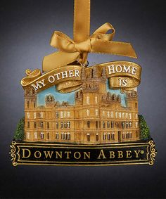 This Christmas ornament is based upon Downton Abbey, the ...