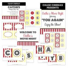 Movie Night Party - Printable Party Collection