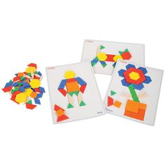 Pattern Blocks and Picture Cards Set