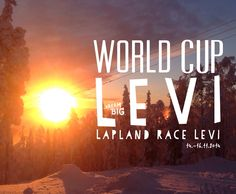 I have taken the picture last year on the same time... Hopefully it's going to be same kind of weather this year also! Ski Resort Levi. World Cup Levi. Lapland is a amazing place!