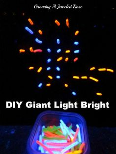 This DIY Giant Light Bright was easy to make, and does not require electricity or have small parts.  A great way to practice shapes, patterning, letters, etc