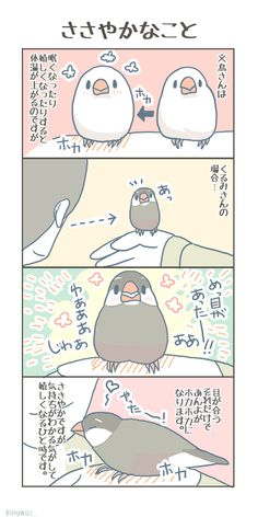 Cute Birds, Small Birds, Happy Animals, Animals And Pets, Cute Little Things, Japanese Culture, Character Design, Finches, Kawaii