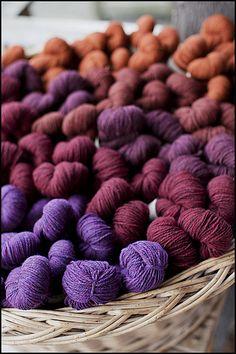 Purple, burgandy and copper - a spicy colour pallette