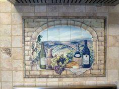Decorative tile backsplash - Kitchen tile ideas - Tuscan Wine