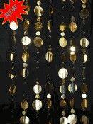 Gold disc beads Hanging Door Beads, Gold, Yellow