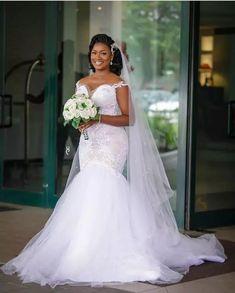 Fancy Wedding Dresses, Wedding Dress Train, Beautiful Wedding Gowns, Lace Mermaid Wedding Dress, Wedding Dress Sleeves, Wedding Bride, Wedding Ideas, Lace Wedding, Prom Dresses