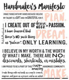 Handmaker's Manifesto