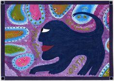Eine weitere Arbeit des Amerikaners King Orth, neben anderen Arbeiten des Künstler neu auf www.aussenseiterkunst.ch, englisch = www.outsider-art-brut.ch Outsider Art, Art Brut, Catwoman, The Outsiders, Kids Rugs, Cats, Collection, Ideas, Sketches