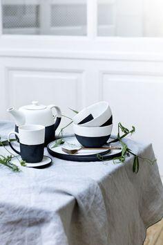 Black and white - Geschirr von Broste Copenhagen #balck #white