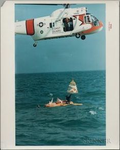 Apollo 9, Splashdown Recovery and Water Egress Training, Eight Photographs. Auction Number 3103T Lot Number 2075   Skinner Auctioneers