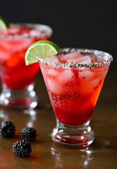 Blackberry Fizz Martini.