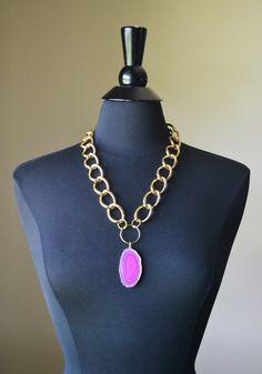 Agate Necklace by MarcieRoxx on Etsy, $34.00