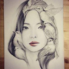 женские образы от корейской художницы-6