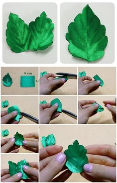 How to Make Ribbon Leaves | UsefulDIY.com
