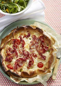 Tærte med asparges og bacon (Recipe in Danish)