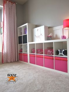 Adding trim to ikea drona boxes for the expedit {girl room progress}