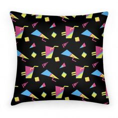 Add a touch of personality to any room with this nostalgic 90s pillow design