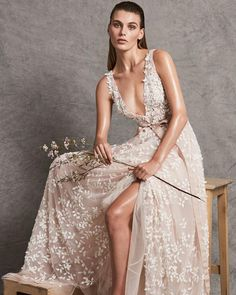 #Pink, the eternal symbol of femininity is celebrated throughout Zuhair Murad's #Fall2018 Bridal Collection #ZMbride #HappySunday