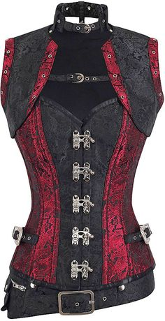 The Violet Vixen - Alustrial Scarlett Storm Captain Corset, $162.00 (http://thevioletvixen.com/authentic-corsets/overbust/alustrial-scarlett-storm-captain-corset/)