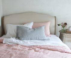 Forget crisp cotton sheets with the best linen bedding sets from Loaf, Habitat, La Redoute Grey Bed Sheets, Cheap Bed Sheets, Grey Bedding, Luxury Bedding, Bedding Sets, Bed Linen Sets, Linen Duvet, Bed Linen Design, Bed Duvet Covers