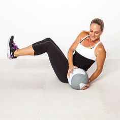 Side-to-Side Slam...weighted medicine ball exercises...easy at home workouts