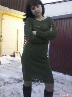 . Теплое платье крючком