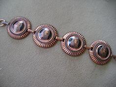 Vintage King Tut Copper Bracelet